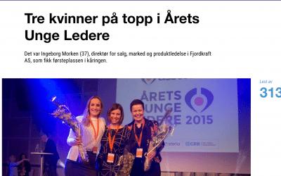 Tre kvinner på topp i Årets Unge Ledere