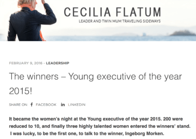 Blogg: The winners – Young executive of the year 2015!