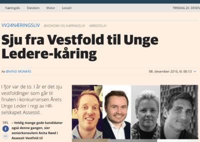 Sju fra Vestfold til Unge Ledere-kåring