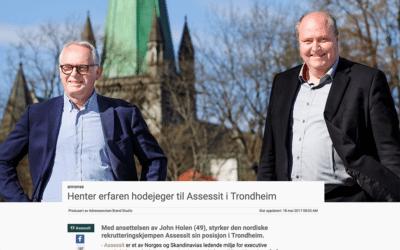 Henter erfaren hodejeger til Assessit i Trondheim