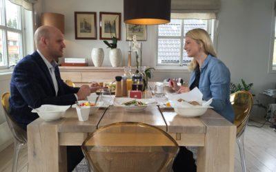 #snakkestilfrokost med Fuelbox Tonje Flack og Christian Granly