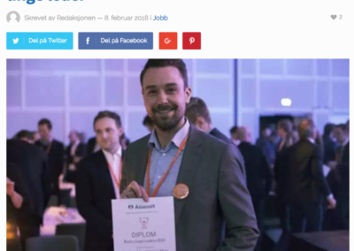 Carsten Maartman-Moe nominert til årets unge leder