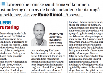 «Ja til Audition!»